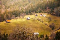 Beautiful landscape of romanian mountain Stock Photo