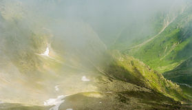 Beautiful landscape of Romanian mountains. Negoiu. Porumbacu de Sus. Cabana Negoiu. Sibiu. Forest. Amazing holiday i Royalty Free Stock Image