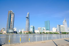 Beautiful landscape of SaiGon river side in the morning Stock Images