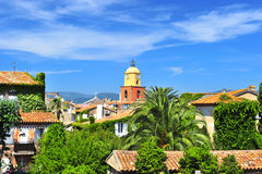 Beautiful landscape of Saint Tropez Stock Photography