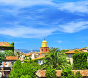 Beautiful landscape of Saint Tropez royalty free stock photos