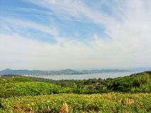 The beautiful landscape in Saint Tropez Royalty Free Stock Image
