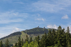 A beautiful landscape scene. View to the mountain great arber Bavaria Stock Photography
