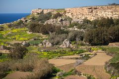 Beautiful landscape at Bahrija in Malta. Beautiful landscape and scenery at Bahrija in Malta Royalty Free Stock Photos