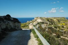 Beautiful landscape at Bahrija in Malta. Beautiful landscape and scenery at Bahrija in Malta Stock Photos