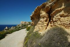 Beautiful landscape at Bahrija in Malta. Beautiful landscape and scenery at Bahrija in Malta Stock Photography