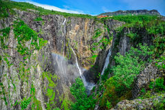 Beautiful landscape and scenery of waterfall cliff, Norway. Landscape and scenery of waterfall cliff, Norway Royalty Free Stock Photo