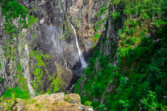 Beautiful landscape and scenery of waterfall cliff, Norway. Landscape and scenery of waterfall cliff, Norway royalty free stock photography
