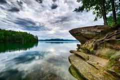 Beautiful landscape scenes at lake jocassee south  carolina Royalty Free Stock Photos