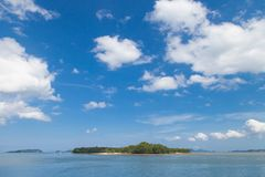 Beautiful landscape of sea and blue sky. In southern Thailand royalty free stock photography
