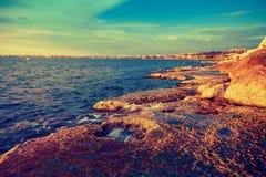 Tripoli, Lebanon. Beautiful landscape of sea coast, Tripoli, Lebanon Stock Photo