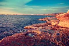 Tripoli, Lebanon. Beautiful landscape of sea coast, Tripoli, Lebanon Stock Photos