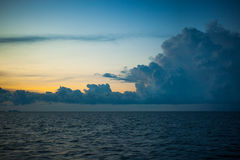 Beautiful landscape with  sea, sky and big amazing Stock Photography