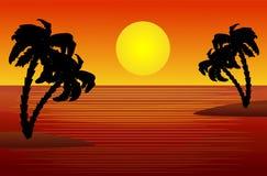Beautiful landscape of sea at sunset Stock Photography