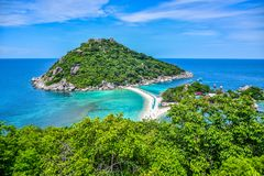 Beautiful landscape and seascape of Nangyuan island, the famous tourist destination near Samui island, Thailand. Nangyuan island, the famous tourist destination stock photography