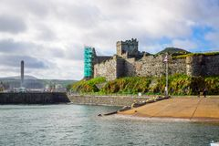 City of Peel in the Isle of Man Stock Photography