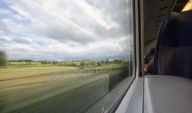 Beautiful landscape seen through the window Stock Image