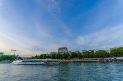 Beautiful landscape of Seine river in Paris Stock Photos