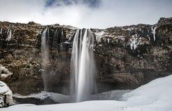 Seljalandsfoss waterfall royalty free stock images