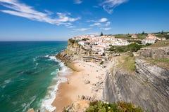 Landscape setting Azenhas do mar, Portugal. The beautiful landscape setting Azenhas do mar, Portugal royalty free stock photos
