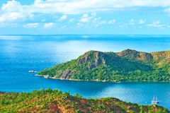 Beautiful landscape at Seychelles Royalty Free Stock Images