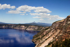 Beautiful landscape shot of the Crater Lake in Oregon, US. A beautiful landscape shot of the Crater Lake in Oregon, US Royalty Free Stock Photos
