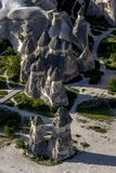 The beautiful landscape showing the formation of a series of fairy chimneys at Pasabagi near Zelve in Turkey. Stock Photos