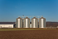 Beautiful landscape with silo Royalty Free Stock Image