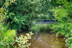 A Beautiful landscape with small waterfall. The country side in West Bend Stock Image