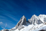 Beautiful landscape snow mountain Royalty Free Stock Images