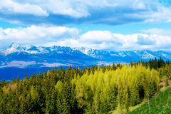 Beautiful landscape of snow mountains in Slovakia. Mountain High Tatry. Beautiful landscape of snow mountains in Slovakia. Mountain High Tatry royalty free stock images