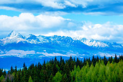 Beautiful landscape of snow mountains in Slovakia. Mountain High Tatry. Beautiful landscape of snow mountains in Slovakia. Mountain High Tatry stock images
