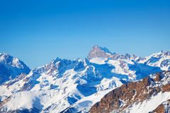 Beautiful landscape of snowcapped mountain peaks Royalty Free Stock Image