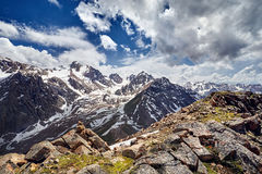 Beautiful landscape of snowy mountains Royalty Free Stock Photo