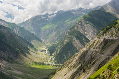 Beautiful landscape of Sonamarg in summer, Srinagar, India Stock Photos