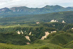 Beautiful landscape in South Kamchatka Nature Park. Stock Photo