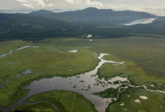 Beautiful landscape in South Kamchatka Nature Park. Royalty Free Stock Image