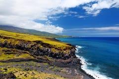 Beautiful landscape of South Maui. The backside of Haleakala Crater on the island of Maui, Hawaii. USA Stock Photography