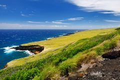 Beautiful landscape of South Maui. The backside of Haleakala Crater on the island of Maui, Hawaii. USA Royalty Free Stock Image