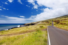 Beautiful landscape of South Maui. The backside of Haleakala Crater on the island of Maui Royalty Free Stock Image