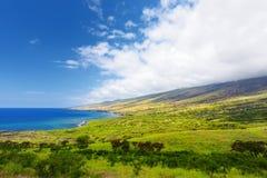 Beautiful landscape of South Maui. The backside of Haleakala Crater on the island of Maui, Hawaii. USA Royalty Free Stock Photos