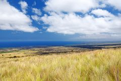 Beautiful landscape of south side of the Big Island of Hawaii. USA Royalty Free Stock Photo