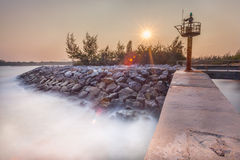 The beautiful landscape of stone wall Royalty Free Stock Images