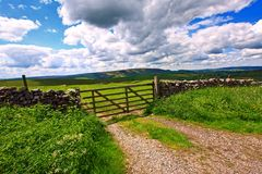 Beautiful landscape with stone walls Royalty Free Stock Image