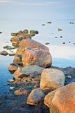 Beautiful landscape with stones in The Baltic Sea Royalty Free Stock Photos