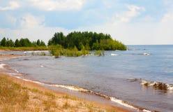 Beautiful landscape of summer lake Stock Photos