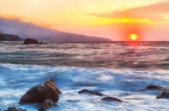 Beautiful landscape with sunrise Stock Photos