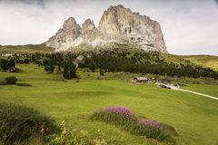 Beautiful landscape at sunrise in Dolomites Mountain, Italy Royalty Free Stock Photo