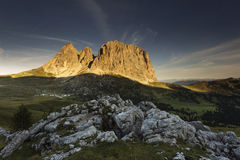Beautiful landscape at sunrise in Dolomites Mountain, Italy Royalty Free Stock Photos