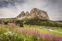 Beautiful landscape at sunrise in Dolomites Mountain, Italy Stock Image